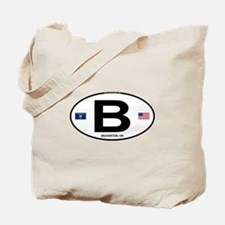 B Euro Oval - Beaverton, OR Tote Bag