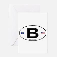 B Euro Oval - Beaverton, OR Greeting Card