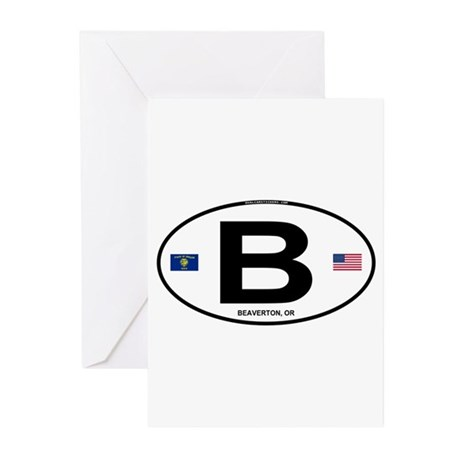 B Euro Oval - Beaverton, OR Greeting Cards (Pk of