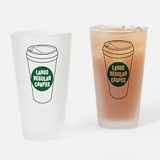 Lahge Regulah Cawfee Drinking Glass