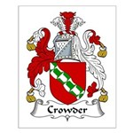 Crowder Family Crest  Small Poster