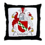 Crowder Family Crest  Throw Pillow