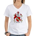 Crowder Family Crest  Women's V-Neck T-Shirt