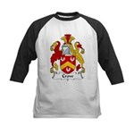 Crow Family Crest  Kids Baseball Jersey