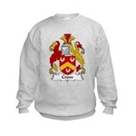 Crow Family Crest  Kids Sweatshirt