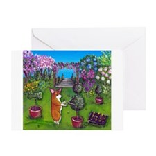 Corgi Master Gardener Greeting Card