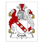 Crook Family Crest Small Poster