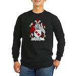 Crook Family Crest Long Sleeve Dark T-Shirt