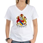 Cromwell Family Crest  Women's V-Neck T-Shirt