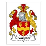 Crompton Family Crest Small Poster