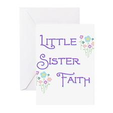 Little Sister Faith Greeting Cards (Pk of 10)