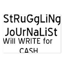 Struggliing Journalist Postcards (Package of 8)