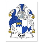 Croft Family Crest Small Poster