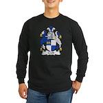 Croft Family Crest Long Sleeve Dark T-Shirt