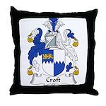 Croft Family Crest Throw Pillow
