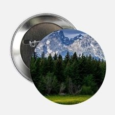 """Mountains,River and Forest Landscape 2.25"""" Button"""