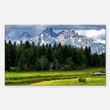 Mountains,River and Forest Landscape Decal