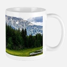 Mountains,River and Forest Landscape Mugs