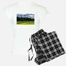 Mountains,River and Forest Landscape Pajamas