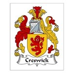 Creswick Family Crest  Small Poster