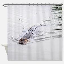 Brandon FL Pond Alligator Shower Curtain