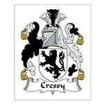 Cressy Family Crest  Small Poster