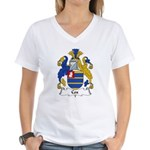 Cox Family Crest Women's V-Neck T-Shirt