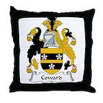 Coward Family Crest Throw Pillow