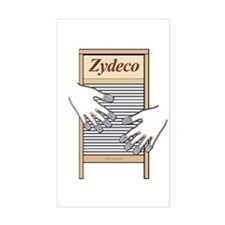 Zydeco Washboard Rectangle Decal