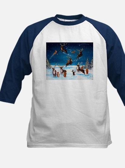 Flying Lessons Corgis & Reind Kids Baseball Jersey
