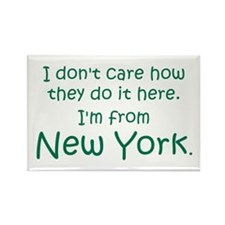 From New York Rectangle Magnet