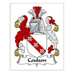 Coulson Family Crest Small Poster