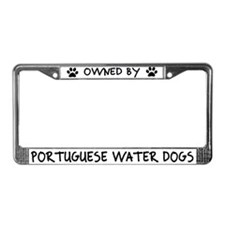 Owned by Portuguese Water Dogs License Plate Frame