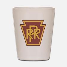 Pennsylvania Railroad Logo Shot Glass