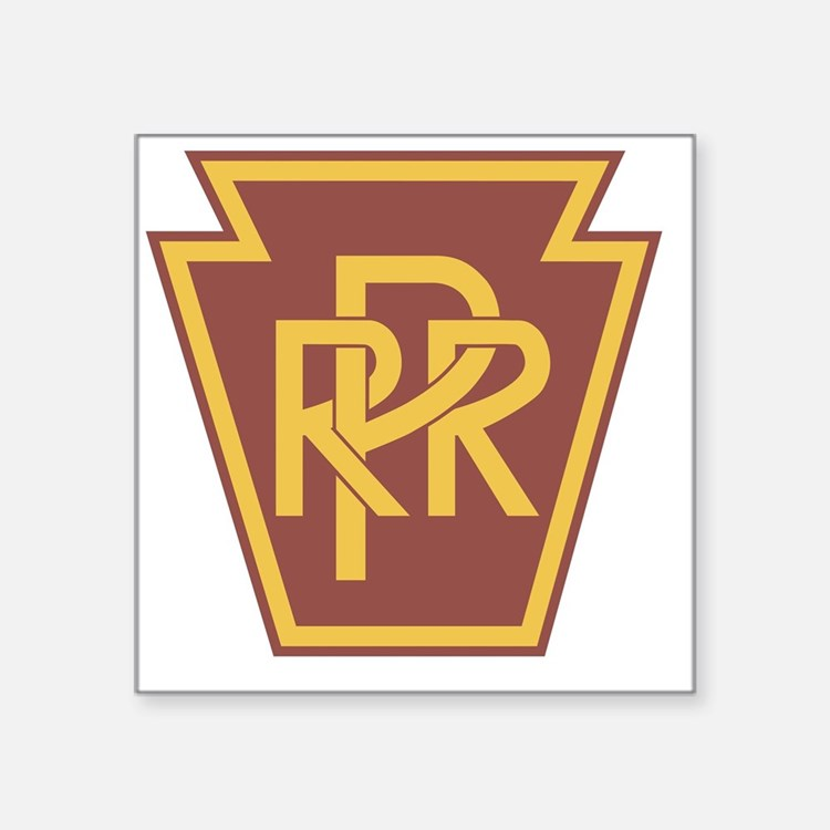 "Pennsylvania Railroad Logo Square Sticker 3"" x 3"""
