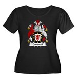 Cornwall Family Crest Women's Plus Size Scoop Neck