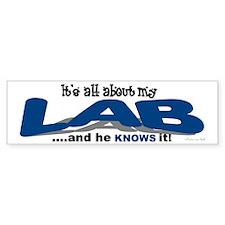 All About My Lab (He) Bumper Bumper Sticker