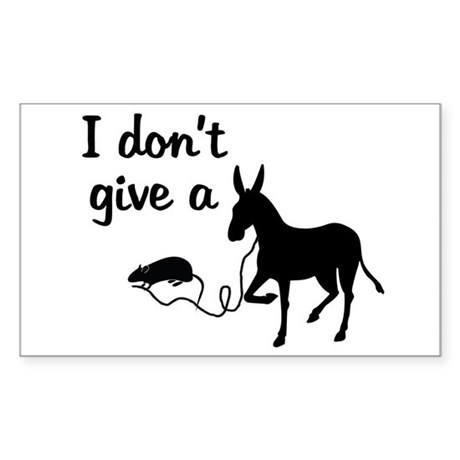 don t give a rat s ass rectangle decal by teewit4grownups