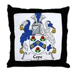 Cope Family Crest Throw Pillow