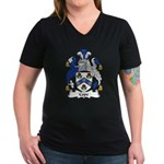 Cope Family Crest Women's V-Neck Dark T-Shirt