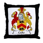 Cooke Family Crest Throw Pillow