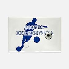 Bosnia Football Player Rectangle Magnet (100 pack)