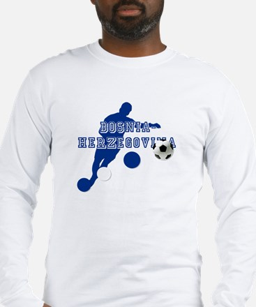 Bosnia Football Player Long Sleeve T-Shirt