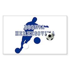 Bosnia Football Player Decal