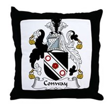 Conway Family Crest Throw Pillow