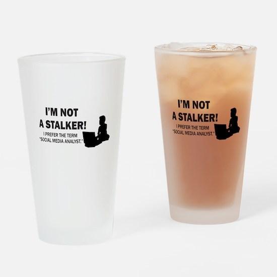 Social Media Analyst Drinking Glass