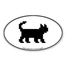 Bitmap Cat Oval Decal