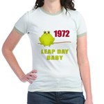 1972 Leap Year Baby Jr. Ringer T-Shirt