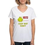 1972 Leap Year Baby Women's V-Neck T-Shirt