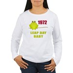 1972 Leap Year Baby Women's Long Sleeve T-Shirt